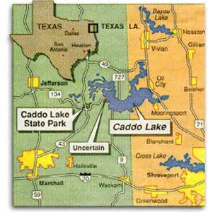 caddo map about caddo lake