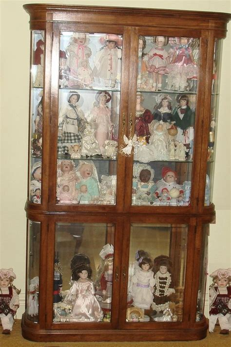 Curio Cabinets For Dolls Pulaski Furniture Corp Lighted Curio Doll Knick Knack