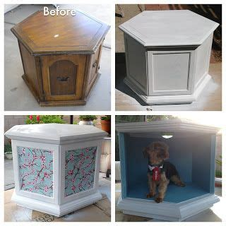 nightstand dog bed from dated table to chic dog bed side table so cute