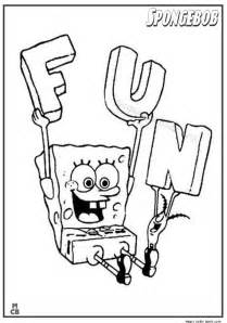 spongebob thanksgiving coloring pages spongebob fun coloring pages