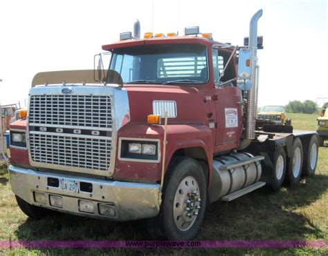 ford commercial truck 1987 ford ltl9000 semi truck item 4017 sold september