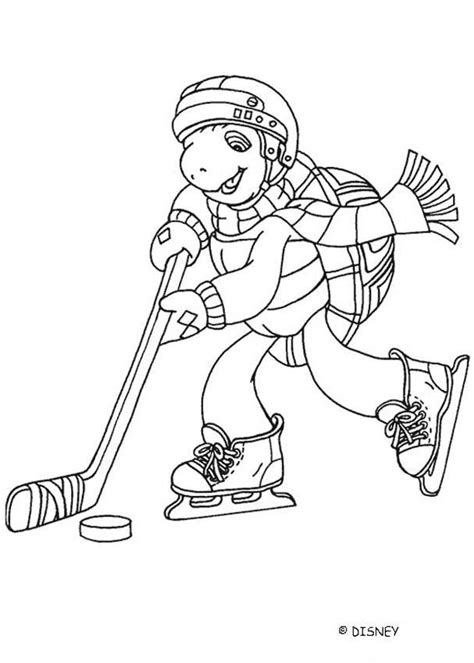 franklin coloring pages franklin playing ice hockey