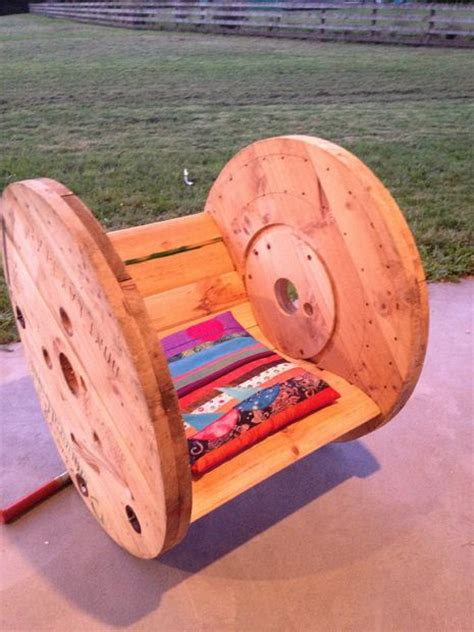 Cable Reel Rocking Chair by Diy Cable Drum Rocking Chair 10 Steps With Pictures
