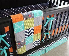Turquoise And Orange Crib Bedding Turquoise Aqua Lime And Orange Custom Crib Baby Bedding You Design Turquoise Gray Crib And