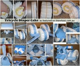 Diaper nappy bike instead of cake gifts n such pinterest