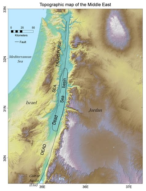 middle east map dead sea peace and science in the middle east page