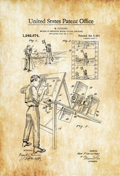 printable patent wall art cartoon making patent 1917 patent print wall decor