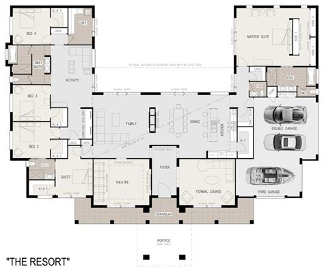 facebook open floor plan 47 best images about u shaped houses on pinterest house