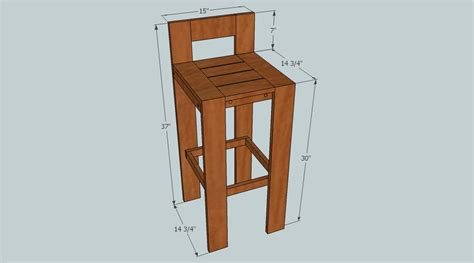 How To Make A Bar Stool Project Bar Stool Diy My Home