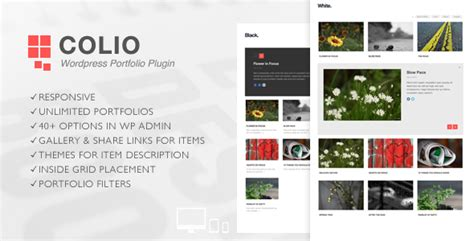 pinterest style layout plugin colio responsive portfolio wordpress plugin by flgravity