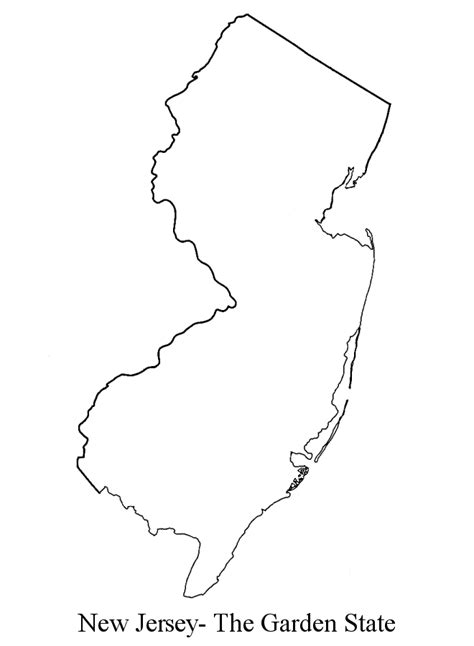 geography blog new jersey outline maps