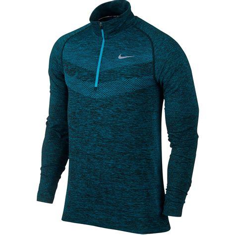 Bajukaost Shirt Nike Slevee 1 wiggle nike dri fit knit 1 2 zip top sp15 sleeve running tops