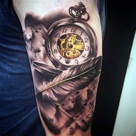200 popular pocket watch tattoo and meanings april 2018