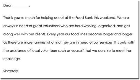 volunteer   note templates wording ideas