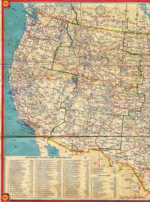 maps western united states 1934 shell road map flickr photo