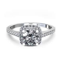 cusion cut engagement ring halo style cushion cut engagement ring in 14k
