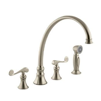 kohler revival kitchen faucet kohler k 16111 4 bv revival two handle kitchen faucet