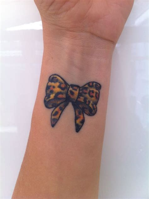 wrist bow tattoo leopard bow wrist after a lot of research on
