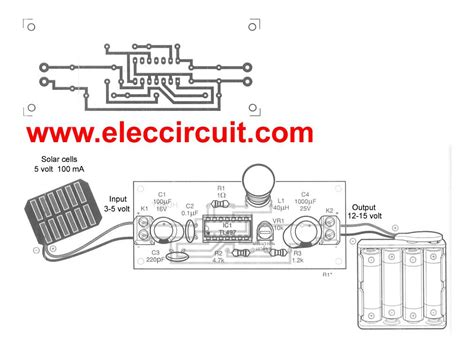 solar charger aa make solar aa battery charger circuit by tl497 eleccircuit