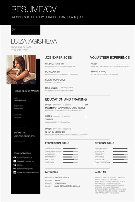 Free Cv by Resume With Graphics Studio Design Gallery Best Design
