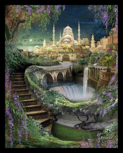 The Hanging Gardens Of Babylon by Hanging Gardens Of Babylon Castle