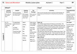 6 Week Lesson Plan Template by Pe And Movement 6 Week Plan Year One By Fwrench Uk