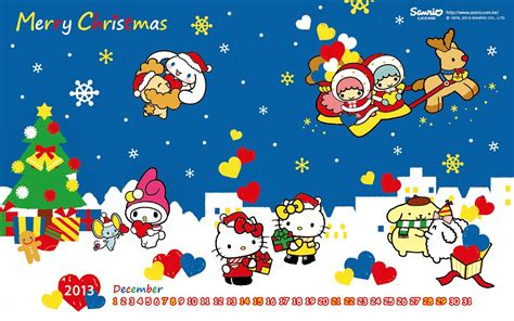 wallpaper christmas sanrio hello kitty merry christmas wallpaper wallpapersafari