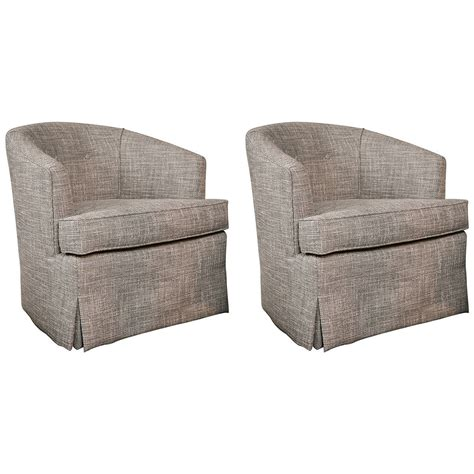 Club Chairs Swivel by Pair Of Classic Mid Century Swivel Club Chairs At 1stdibs
