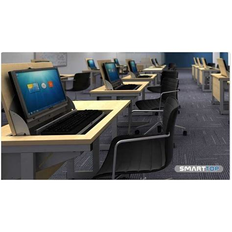 smart top ict desks two person flip top computer desks