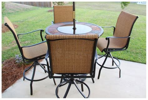 High Patio Table High Top Patio Table With Umbrella Outdoor Furniture High Top Patio Table