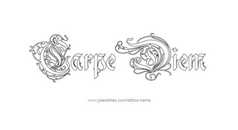 carpe noctem tattoo designs carpe diem dessin pictures to pin on tattooskid