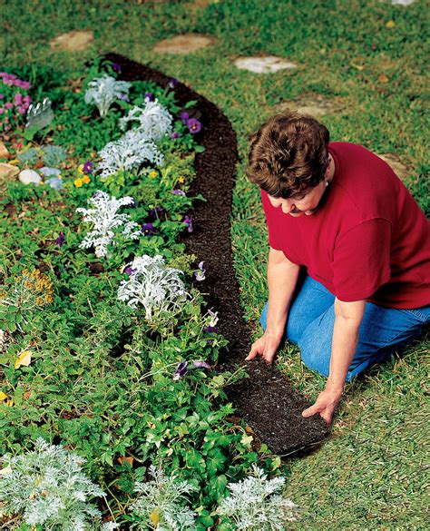 rubber landscape edging recycled rubber gardeners supply