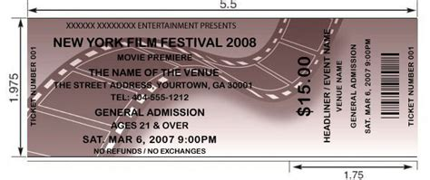 film festival tickets design and print your own film