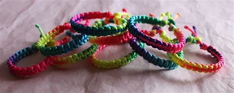 macrame pulseras pulseras macram 233 colores fluor amanika