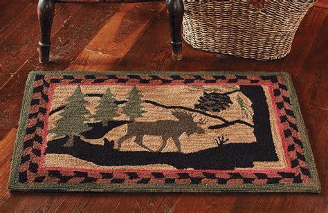 moose rug hooked moose rug