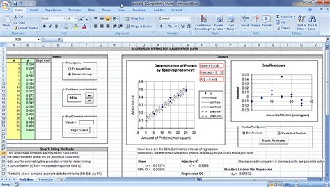 Calibration Spreadsheet Template by Chemistry 171 Sapidblog