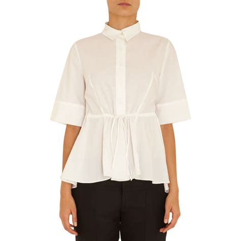 marni sleeve tie waist shirt in white lyst