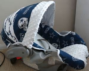 items similar to baby car seat cover made with dallas cowboys fabric on etsy