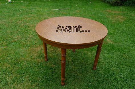 Relooker Une Table Ronde relooke ta table 224 manger recyclage et cie