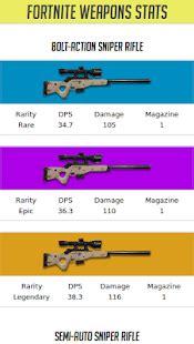 fortnite gun ranks fortnite weapons stats app report on mobile