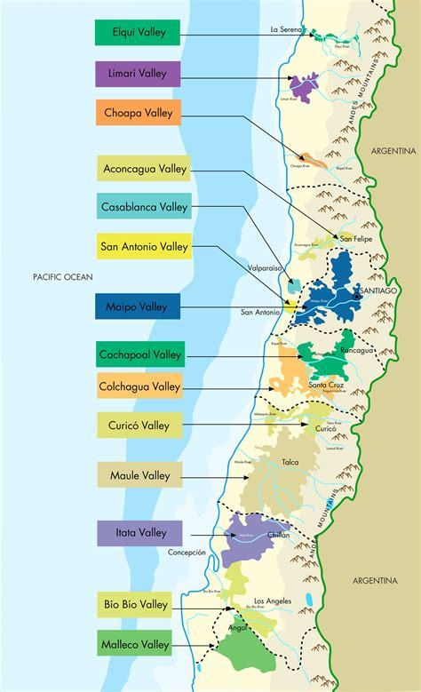 central chile soils the geography of chile