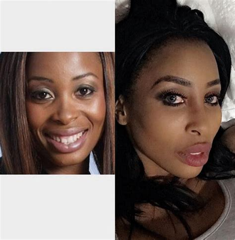 kelly khumalo before bleaching skin khanyi mbau cosmetic surgery include breast implants see