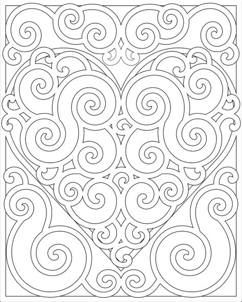 heart pattern color coloring book pages best color owl heart coloring page