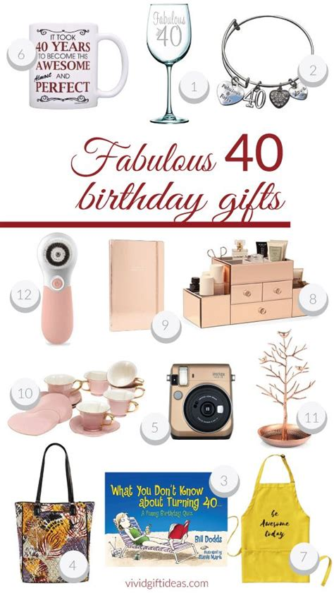 best gift to give 40 year old female fabulous 40th birthday presents for 40 birthday birthdays and fortieth birthday