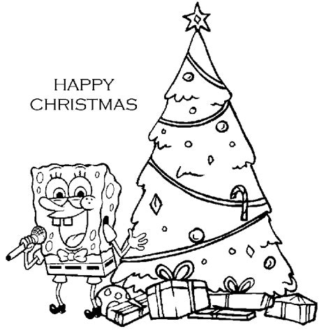 spongebob christmas coloring pages free printable spongebob christmas coloring pages az coloring pages