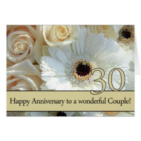 happy 30th anniversary cards zazzle