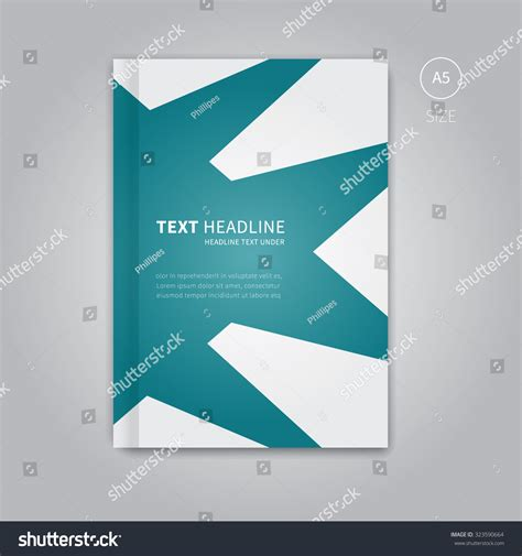 Vector Front Layout Brochure Template Page Stock Vector 323590664 Shutterstock Book Front Cover Design Template