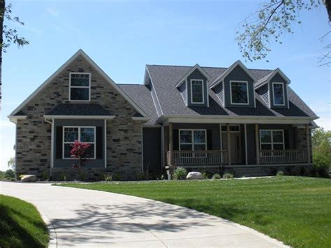 House Plans With Garage On Side by Country Ranch W Faux Dormers And Side Entry Garage Home