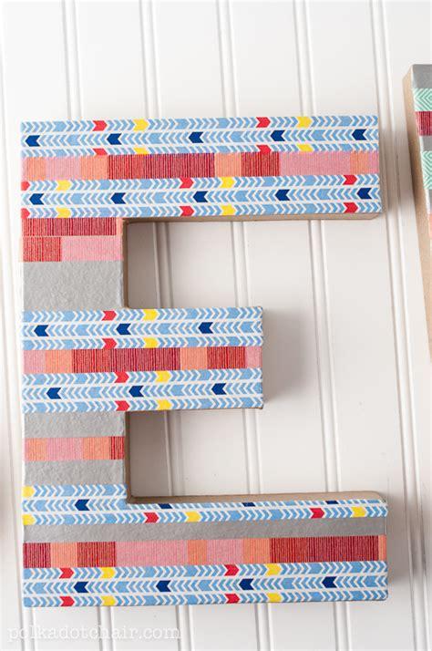 washi tape craft ideas diy washi tape letter craft create sewing room decor