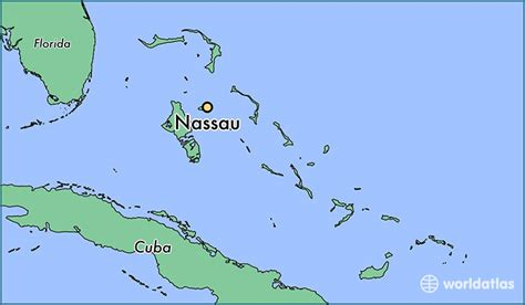 the on the where is nassau the bahamas nassau new providence map